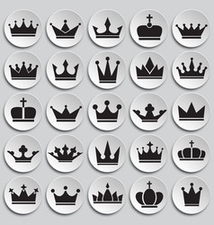 crown set on plates background for graphic and web vector image