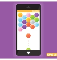 Diamond puzzle game asset for mobile devices vector image