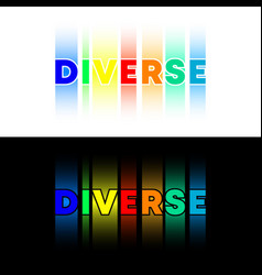 diverse text typography design for banner poster vector image