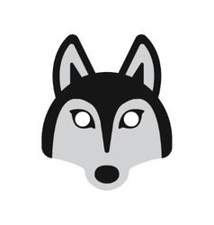 dog husky mask vector image