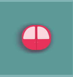 door in the form of a circle vector image