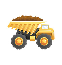 Dump truck construction and mining vehicle vector