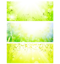 green fresh banners vector image