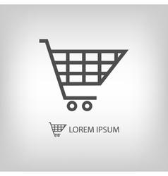 Grey shopping cart vector image