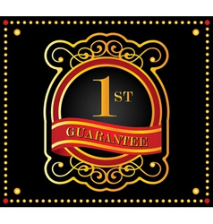 guarantee ribbons vector image