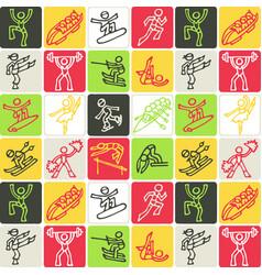 hand drawn icons set - sports vector image