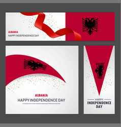 Happy albania independence day banner and vector