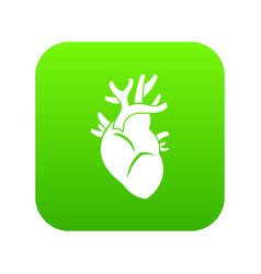 heart icon digital green vector image