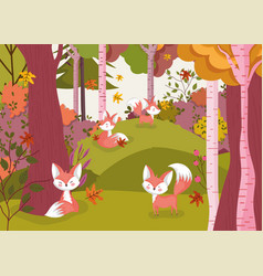 hello autumn leaves season poster vector image