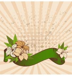hibiscus banner vector image