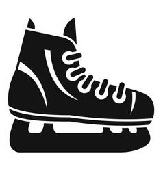 Hockey ice skate icon simple style vector
