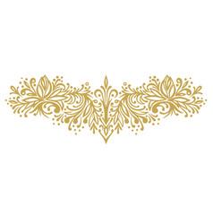 horizontal monochrome ornament vector image