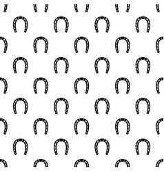 Horseshoe pattern seamless vector