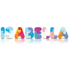 ISABELLA written with alphabet puzzle vector