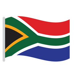 isolated south african flag vector image