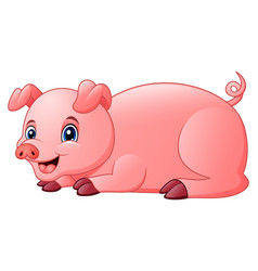 little pig are happy vector image