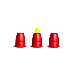 Magic cups game vector image