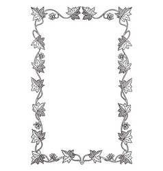 Maple leaf vines in this pattern frame vintage vector