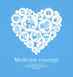 medical heart concept blue vector image
