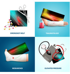 Medicine trauma design concept vector