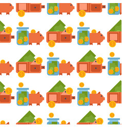 money finanse banking safety seamless pattern vector image