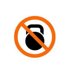 no workout or exercise kettlebell symbol vector image