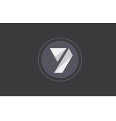 Number 7 seven logo icon design vector