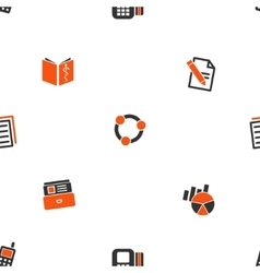 Office Files Seamless Flat Wallpaper vector image