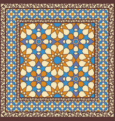 ornamental pattern in arabic style vector image