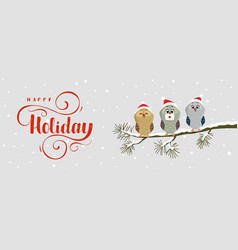 owl holiday vector image