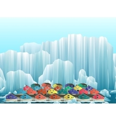 Parallax background arctic greenland town vector