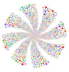 Pharmacy tablet fireworks swirl flower vector