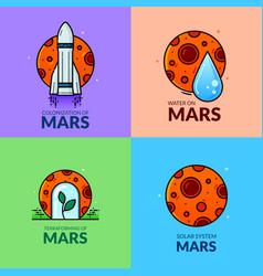 planet mars vector image