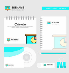 presentation logo calendar template cd cover vector image