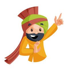 punjabi man vector image