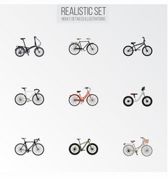 Realistic fashionable bmx retro and other vector