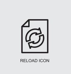 Reload icon vector