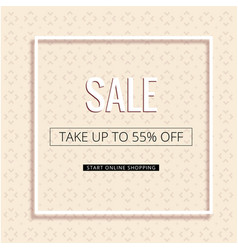 Sale take up to 55 off white frame pink backgroun vector