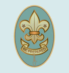 Scout sign - be prepared vector