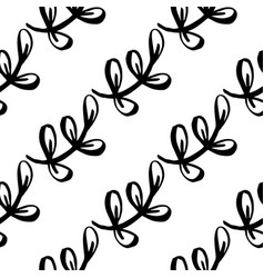 seamless floral ornament hand drawn trees forest vector image
