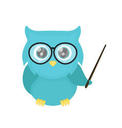 smart owl teacher with a pointer vector image