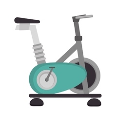 Spinning bike static gym vector