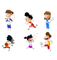 sport for kids including football badminton vector image