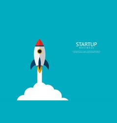startup concept start up rocket launch rocket vector image