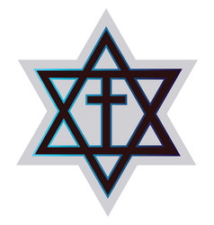 symbol a messianic jewiss religion on a white vector image