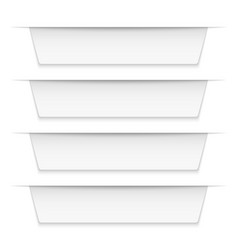 tabbed labels white infographic banners leaflet vector image