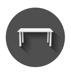 table for object presentation empty white top vector image