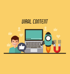 viral content video people start likes concept vector image
