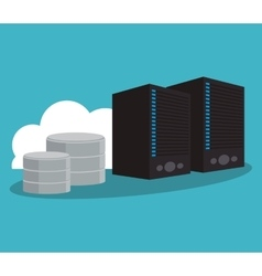 Web hosting and cloud computing design vector