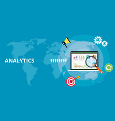 Website web apps analytics technology report vector